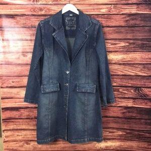 Ethyl Women's Jean Dress Size Medium
